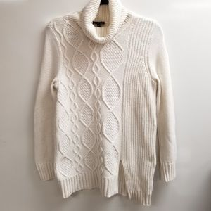 THE LIMITED Turtleneck Cable Knit Sweater